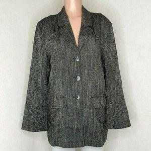 J. Jill Herringbone Tweed Jacket Stretch